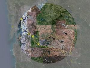 50 km radius