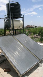 Solar hot-water panels