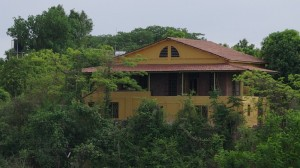 The house as seen from aross the river