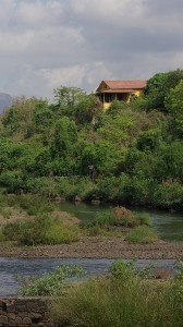 A view of the house from the river