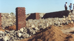 Construction of foundations and plinth walls